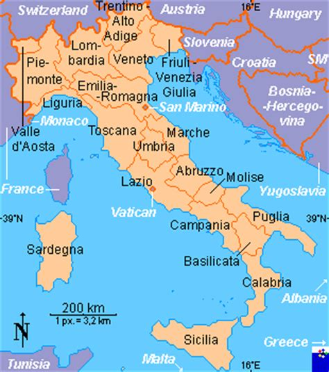 clickable map  italy