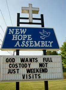 Funny Church Marquee Signs