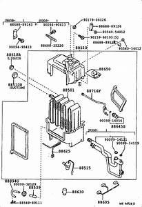 Toyota 4runner A  C Evaporator Core  Evaporator  Cooler  No