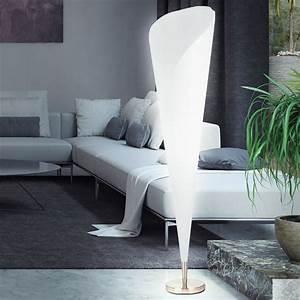 Stehlampe Für Wohnzimmer : moderne design standleuchte nickel stehleuchte stehlampe wohnzimmer rund weiss ebay ~ Frokenaadalensverden.com Haus und Dekorationen