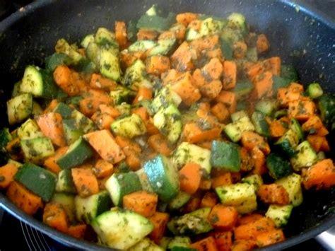 cuisiner la patate douce au four wok rapide de courgettes patates douces