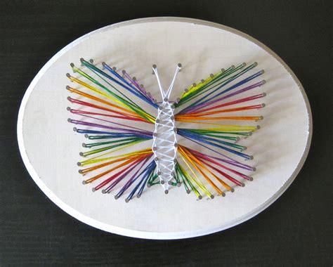 butterfly art art  kids rooms string art