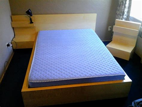 Malm Bed Nightstand by Ikea Malm Bed And Two Floating Nightstands