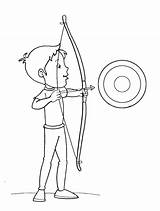 Coloring Arrow Bow Pages Target Boy Archery Arrowhead Targets Printable Getcolorings sketch template