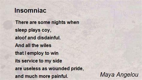 insomniac poem  maya angelou poem hunter
