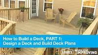 designing a deck How To Build A Deck, Part 1: Design Deck Plans - YouTube