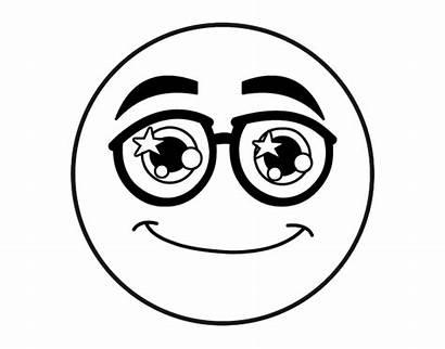 Emoji Coloring Smiley Colorare Occhiali Gli Ausdrucken