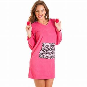 Womens Night Bauhaus : womens dark pink fleece leopard hooded nightshirt ~ Eleganceandgraceweddings.com Haus und Dekorationen