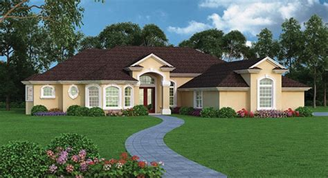 mediterranean style house plan  beds  baths  sqft plan   homeplanscom