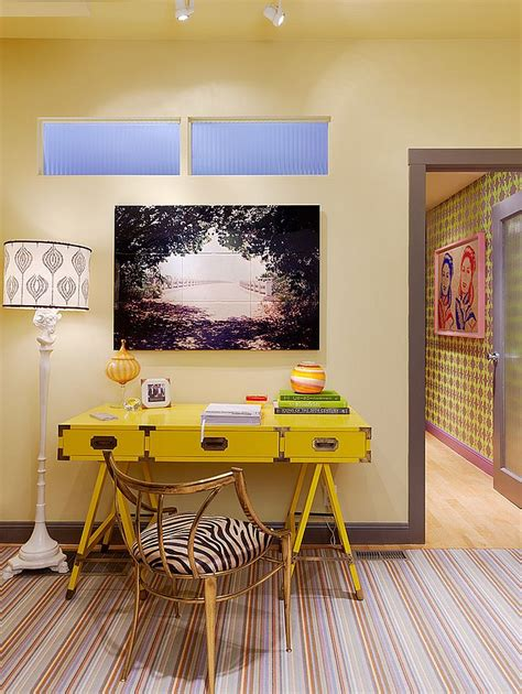 Yellow Office Desk by Energize Your Workspace 30 Home Offices With Yellow Radiance
