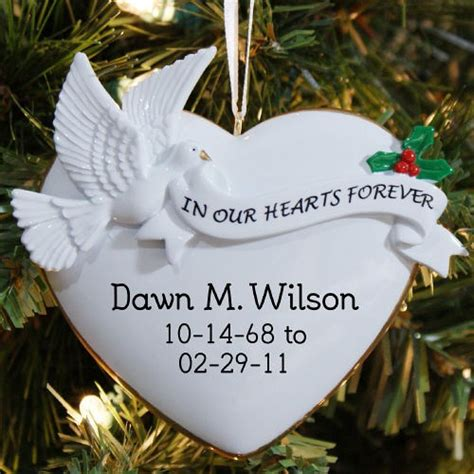 christmas ideas fpr someone who lost a loved one personalized memorial chrismas tree ornament beautiful remembrance gift
