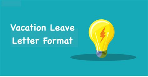 vacation leave letter format vacation leave application