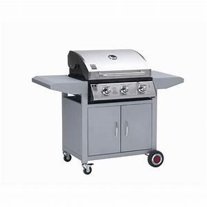 Plancha Gaz Avec Chariot Et Couvercle : grill chef 3 barbecue gaz sur chariot achat vente ~ Dailycaller-alerts.com Idées de Décoration