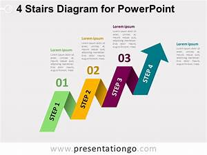 4-parts Arrow Ring Powerpoint Chart