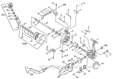 shakespeare  parts list  diagram