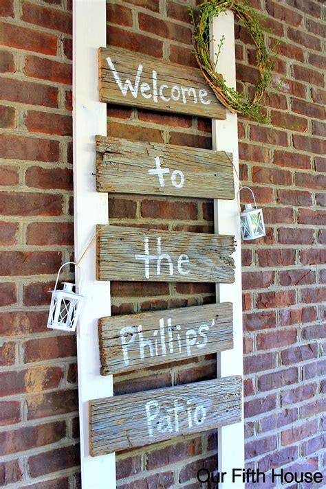 diy  fence board patio sign patio signs diy fence