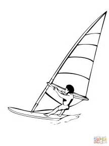 Kleurplaat Surfen by Windsurfing Coloring Page Free Printable Coloring Pages