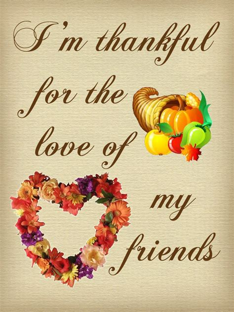 thanksgiving note thankful   love   friends