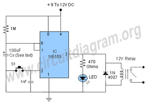 time delay relay circuit diagram