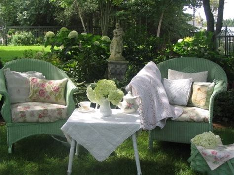 chic outdoor furniture 16 shabby chic garden designs with interior furniture Shabby