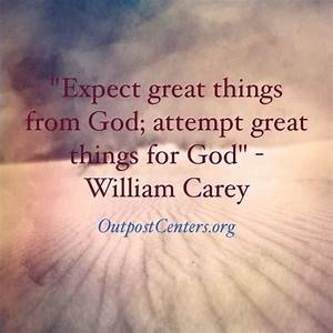 Expect great th... Medical Missions Quotes