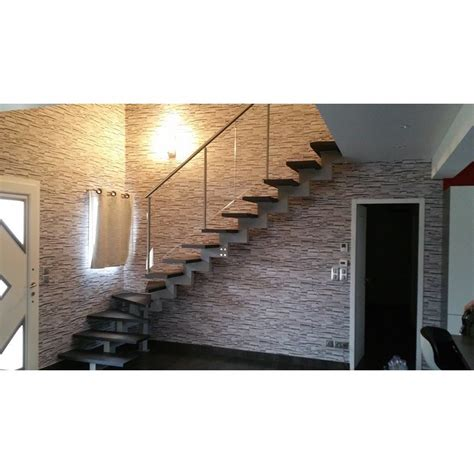 escalier quart tournant limon central en metal