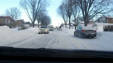 big lava l major snowstorm laval canada the day after
