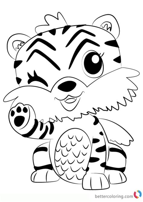 tigrette  hatchimals coloring pages  printable coloring pages