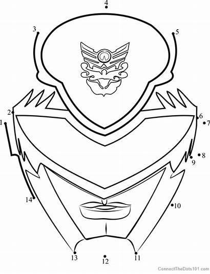 Power Ranger Mask Dot Dots Connect Rangers