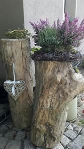 Deko Ideen Holz : die besten 25 holzstamm deko ideen auf pinterest deko ~ Lizthompson.info Haus und Dekorationen