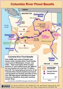 Columbia River Basalt Flow Map