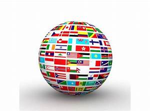 Globe Build With Multiple Flags Stock Photo Powerpoint
