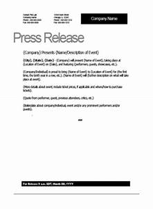 film press release template With press release template for event