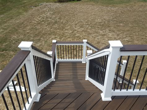 Trex Decking Frame Spacing by Deck Steps American Exteriors Masonry