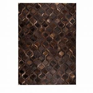 Tapis Cuir Patchwork : tapis patchwork fait main marron fonc dutchbone bawang ~ Teatrodelosmanantiales.com Idées de Décoration