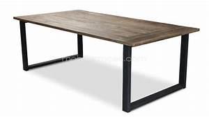 Table A Manger Industrielle : table industrielle rectangulaire r tro au design vintage noldy mobilier moss ~ Teatrodelosmanantiales.com Idées de Décoration