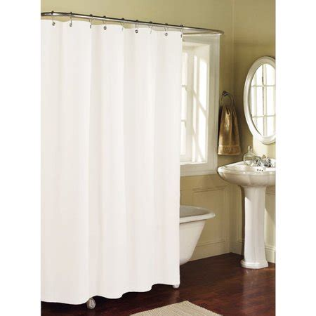 fabric shower curtains walmart mainstays fabric shower curtain liner arctic white
