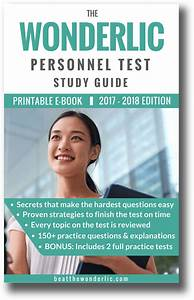 The Wonderlic Personnel Test Study Guide