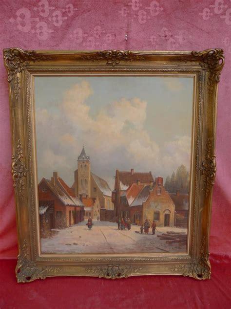sublime ancien tableau d hiver sc 232 ne de village sign 233 steinbach ebay
