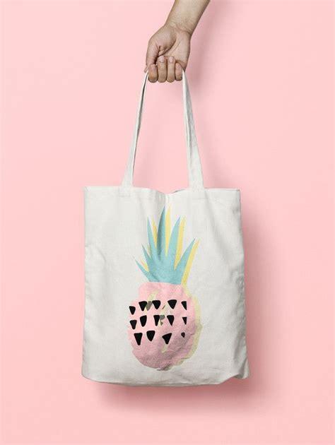 canvas pineapple tote bag cotton  linen fabric