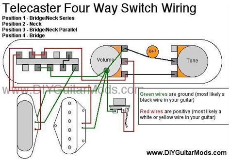 Rotary Switch Wiring Diagram Telecaster by 4 Position Switch Wiring Diagram For Wiring Diagram