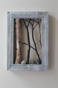 Birch bark wall hangings and birches on
