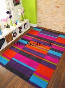 tapis multicolore design pas cher tapis salon chambre With tapis multicolore pas cher