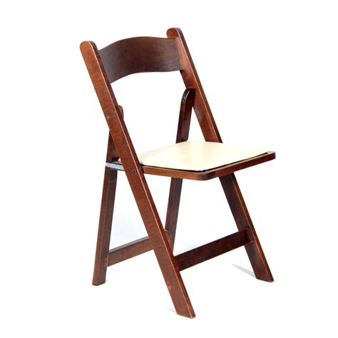 wood padded folding chair linens black wood folding