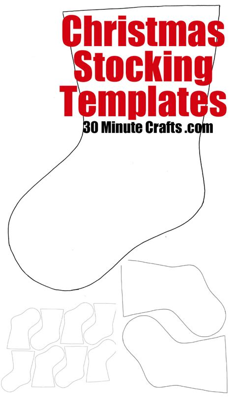 felt christmas stocking decoration templates templates 30 minute crafts