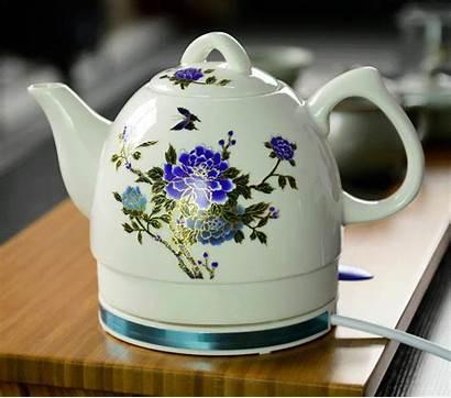 Electric Kettle Tea Pot Cordless Colour Ceramic