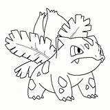 Coloring Ivysaur Ivy Pokemon Printable Poison Leaf Getcolorings Vector Getdrawings Favourites sketch template