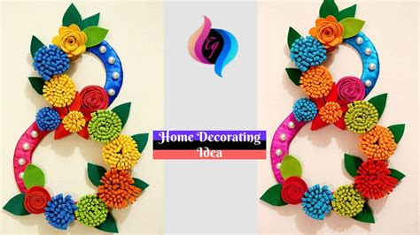 how to make hanging l with paper diy wall decor idea with paper and cardboard make paper
