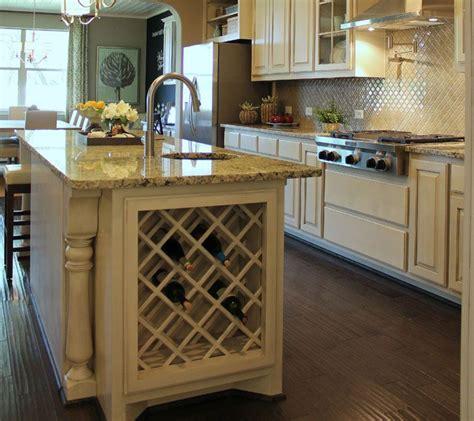 kitchen island wine rack built in lattice wine rack in kitchen island in bone white 5194