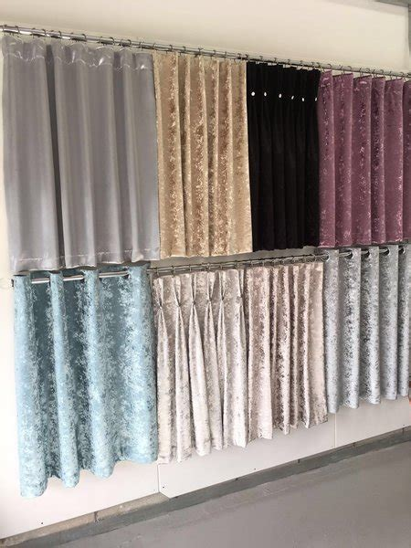 beautiful crushed velvet eyelet curtains   The Glitter